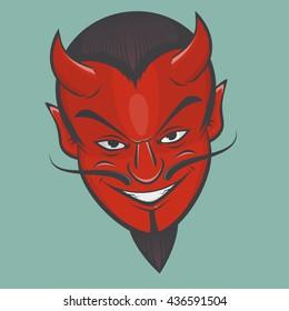 sinister satan face clipart