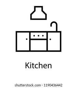 Sink with cabinets showing kitchen fittings to cook food