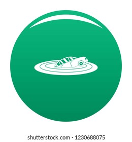Sinking car icon. Simple illustration of sinking car vector icon for any design green