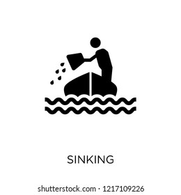 Sinking icon. Sinking symbol design from Insurance collection.