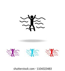 sinking person icon. Elements of death in multi colored icons. Premium quality graphic design icon. Simple icon for websites, web design, mobile app, info graphics on white background