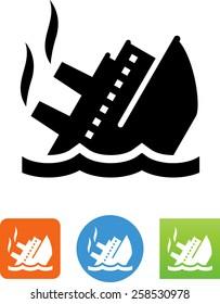 Sinking ship / Titanic symbol