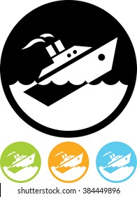 Sinking ship vector isolated