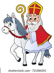Sinterklaas on horse theme image 1 - eps10 vector illustration.