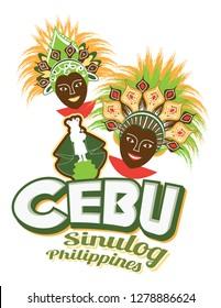 Sinulog Festival Philippines Cebu faces