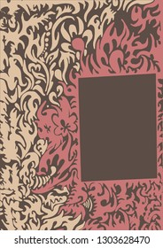 sinuous colored pattern for an unusual background