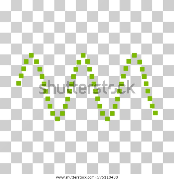 Sinusoid Waves icon. Vector illustration style is flat iconic symbol, eco green color, transparent background. Designed for web and software interfaces.