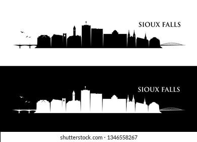 Sioux Falls skyline - South Dakota, United States of America, USA - vector illustration