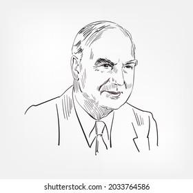 Sir Edward Mellanby famous British biochemist and nutritionist physician medical scientist vector sketch illustration