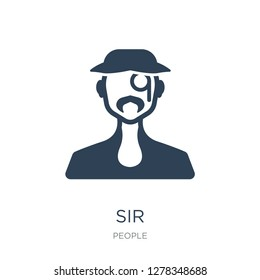 sir icon vector on white background, sir trendy filled icons from People collection, sir vector illustration