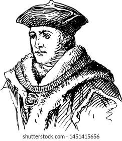 Sir Thomas More, vintage illustration