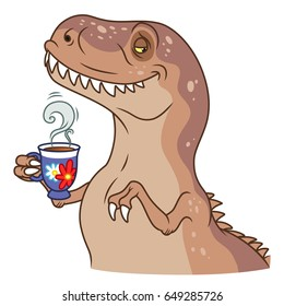 Sir tyrannosaurus with tea