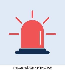 Siren, fire siren new trendy style isolated icon. Alarm icon website design, app, logo, UI. Vector symbol illustration icon.