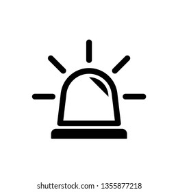 Siren icon symbol vector. on white background