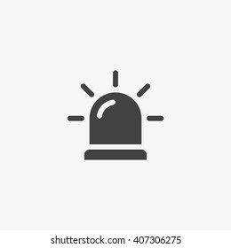 Siren Icon in trendy flat style isolated on grey background. Alarm symbol for your web site design, logo, app, UI. Vector illustration, EPS10.