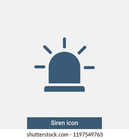 Siren icon. Vector