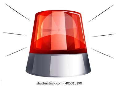 Siren light on white background illustration