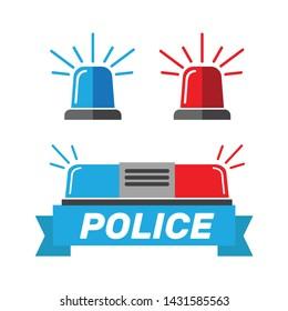 Siren set. Police flasher or ambulance flasher. Siren police light vector