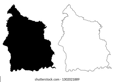 Sisaket Province (Kingdom of Thailand, Siam, Provinces of Thailand) map vector illustration, scribble sketch Sisaket map