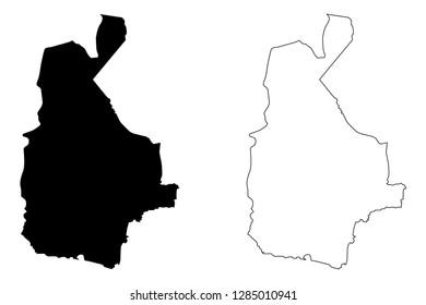 Sistan and Baluchestan Province (Provinces of Iran, Islamic Republic of Iran, Persia) map vector illustration, scribble sketch Sistan and Baluchestan map