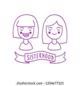 sisterhood doodle illustration