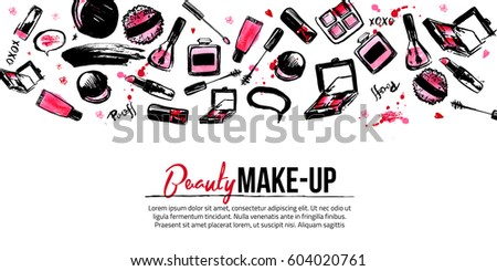 Site banner template makeup artist studio stock vector royalty free site banner template for makeup artist studio site header business card brochure and wajeb Images