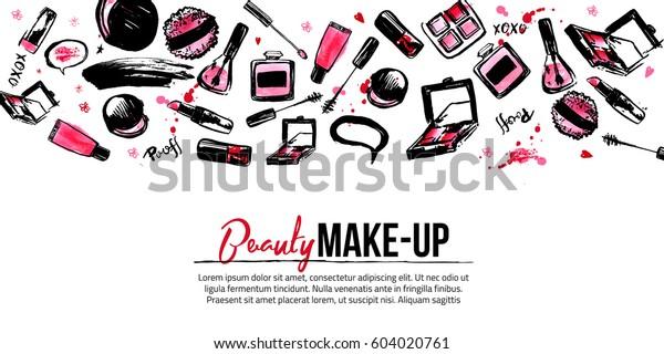 Website Banner Vorlage Für Make Up Künstler Studio Site