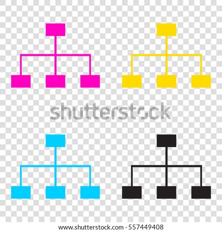 997f895fceaf Site Map Sign CMYK Icons On Stock Vector (Royalty Free) 557449408 ...