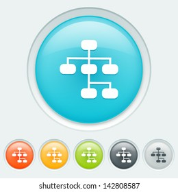 Sitemap button in six colors: blue, orange, yellow, green, black and white