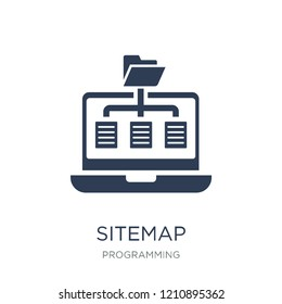 Sitemap icon. Trendy flat vector Sitemap icon on white background from Programming collection, vector illustration can be use for web and mobile, eps10