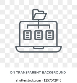 Sitemap icon. Trendy flat vector Sitemap icon on transparent background from Programming collection. High quality filled Sitemap symbol use for web and mobile