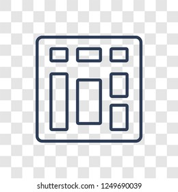 Sitemap icon. Trendy linear Sitemap logo concept on transparent background from Programming collection