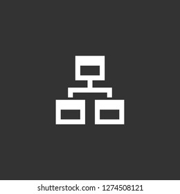 sitemap icon vector. sitemap vector graphic illustration
