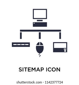 Sitemap icon vector isolated on white background for your web and mobile app design, Sitemap logo concept