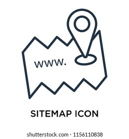 Sitemap icon vector isolated on white background, Sitemap transparent sign , thin symbol or stroke element design in outline style