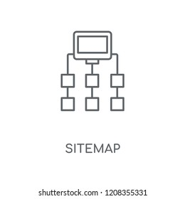 Sitemap linear icon. Sitemap concept stroke symbol design. Thin graphic elements vector illustration, outline pattern on a white background, eps 10.
