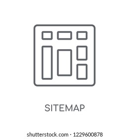 Sitemap linear icon. Modern outline Sitemap logo concept on white background from Programming collection. Suitable for use on web apps, mobile apps and print media.