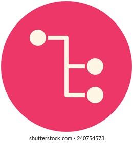 Sitemap, modern flat icon