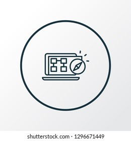 Sitemap navigation icon line symbol. Premium quality isolated website structure element in trendy style.