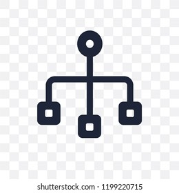 Sitemap transparent icon. Sitemap symbol design from SEO collection. Simple element vector illustration on transparent background.
