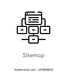 sitemap vector line icon. Simple element illustration. sitemap outline icon from seo & web concept. Can be used for web and mobile
