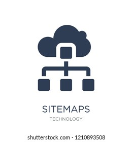 Sitemaps icon. Trendy flat vector Sitemaps icon on white background from Technology collection, vector illustration can be use for web and mobile, eps10