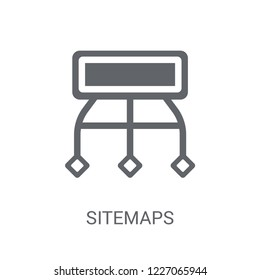 Sitemaps icon. Trendy Sitemaps logo concept on white background from Technology collection. Suitable for use on web apps, mobile apps and print media.