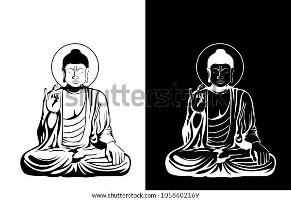 Image Vectorielle De Stock De Illustration Vectorielle De Bouddha
