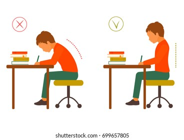 Correct Posture Images Stock Photos Amp Vectors Shutterstock