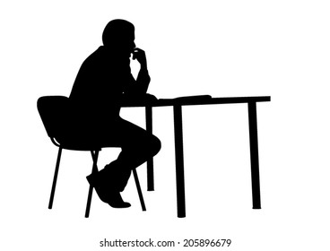 Sitting Silhouette