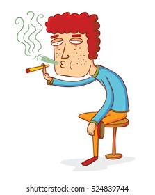 sitting smoker