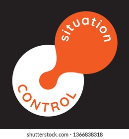situation is out if control - simple illustration