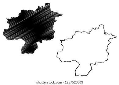Sivas (Provinces of the Republic of Turkey) map vector illustration, scribble sketch Sivas  map