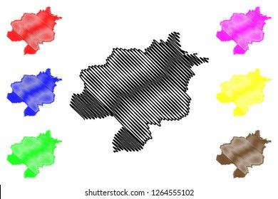 Sivas (Provinces of the Republic of Turkey) map vector illustration, scribble sketch Sivas ili map